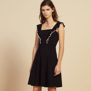 NWT SANDRO SHORT DRESS WITH FRILLS AROUND THE ARMS